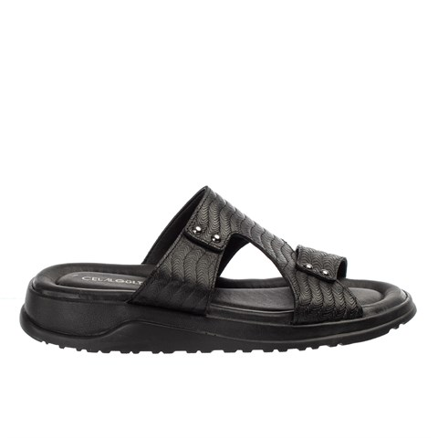 2545 Celal Gültekin Mens Slipper Black