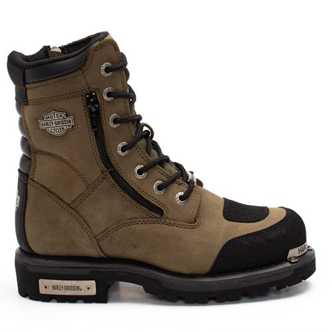 Harley Davidson 025G0321 Young Boy Boots Olive Crayz