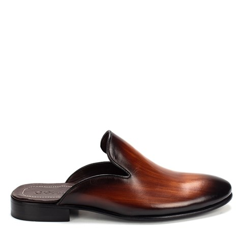 010 Celal Gültekin Mens Leather Slippers Ten
