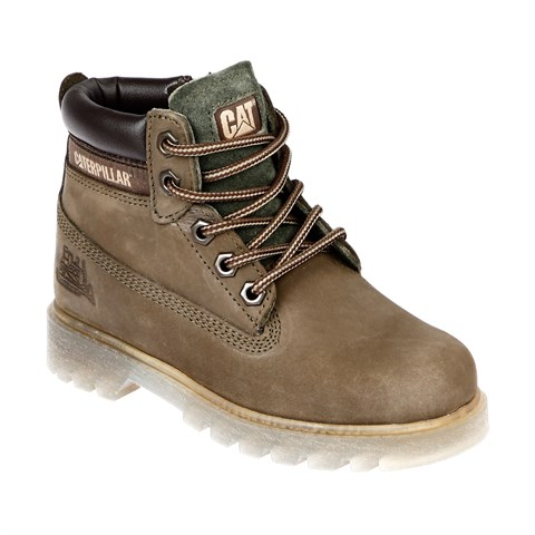 Cat Kids 015F1069 Kids Boots (31-35) Green Nubuck