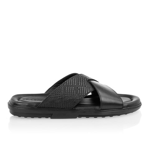 2433 Celal Gültekin Mens Slipper Black