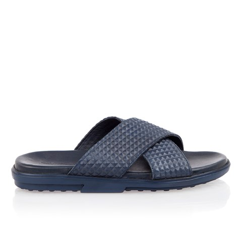 2434 Celal Gültekin Mens Slipper Navy Blue