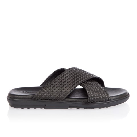 2434 Celal Gültekin Mens Slipper Black