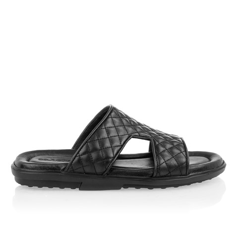2440 Celal Gültekin Mens Slipper Black